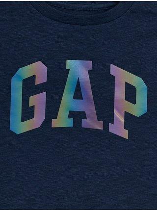Modré klučičí dětské tričko GAP Logo arch int t-shirt