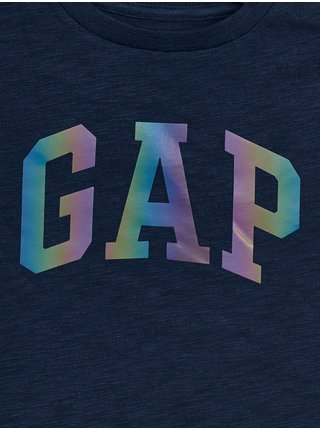 Detské tričko GAP Logo arch int t-shirt Modrá