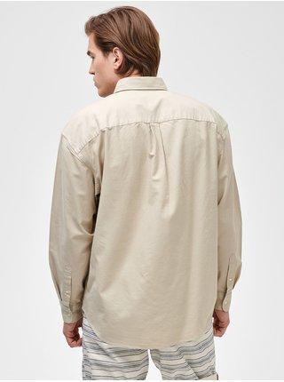Smetanová pánská košile Oxsford big shirt