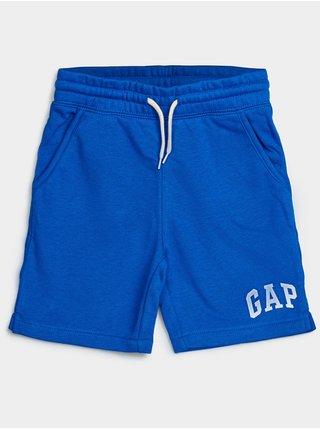 Modré klučičí dětské kraťasy GAP Logo franch shorts