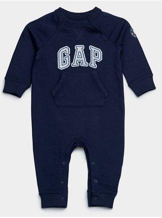 Modrý klučičí baby overal GAP Logo arch one-peace