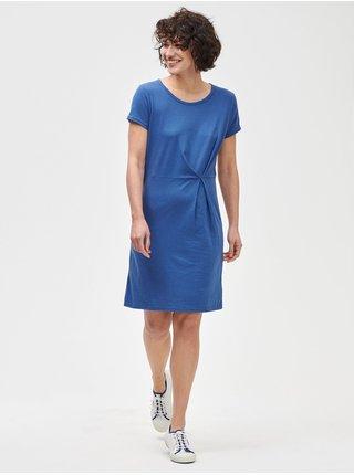Modré dámské šaty pleated dress