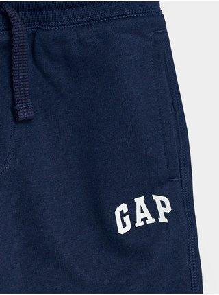 Modré klučičí dětské kraťasy GAP Logo franchise shorts
