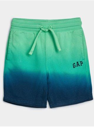 Zelené klučičí dětské kraťasy GAP Logo franchise shorts