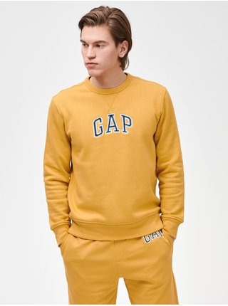 Žlutá pánská mikina GAP Logo crewneck sweatshirt
