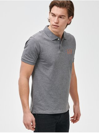 Šedé pánské polo tričko GAP Logo pique