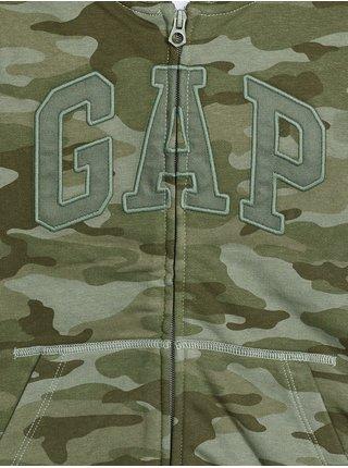 Zelená klučičí maskáčová mikina GAP Logo new arch