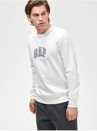 Bílá pánská mikina GAP Logo crewneck sweatshirt