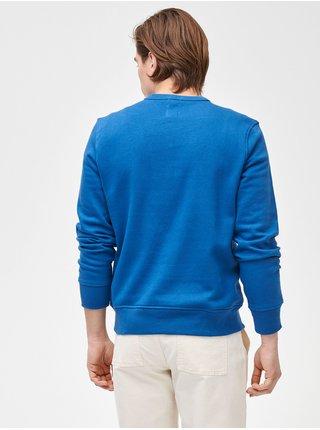 Modrá pánská mikina GAP Logo crewneck sweatshirt