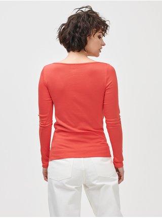 Oranžové dámské tričko long sleeve mod bateau
