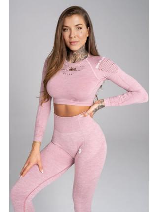 Crop-Top Gym Glamour Pink Melange