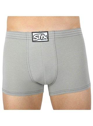 Pánské boxerky Styx klasická guma světle šedé