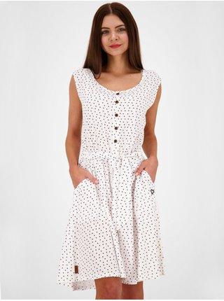 Alife and Kickin ScarlettAK CLOUDY krátké letní šaty - bílá