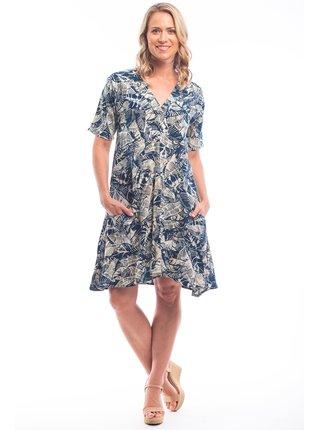 Orientique áčkové květované šaty Canary Island