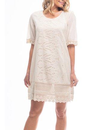 Orientique krémové letní šaty Sleeve Sand