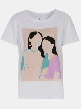 Bílé tričko s potiskem TOP SECRET
