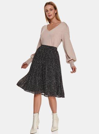 Čierna vzorovaná sukňa TOP SECRET