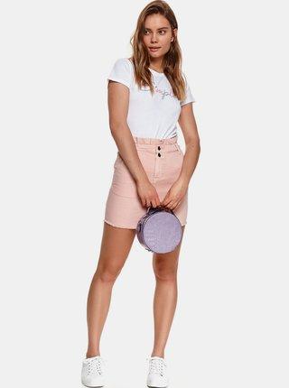 Ružová rifľová púzdrová mini sukňaTOP SECRET