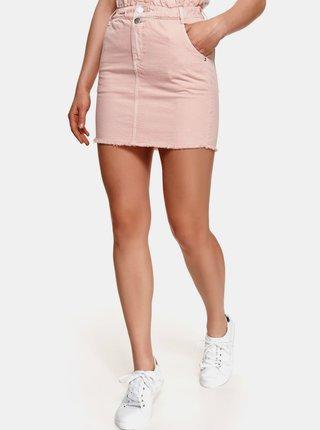 Růžová džínová pouzdrová mini sukně TOP SECRET