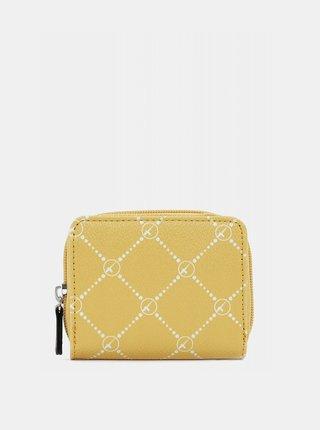Žltá vzorovaná peňaženka Tamaris