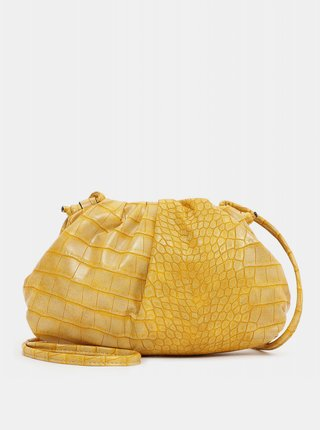 Žltá vzorovaná malá crossbody kabelka Tamaris