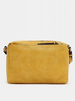 Žlutá prošívaná crossbody kabelka s ozdobnou třásní Tamaris