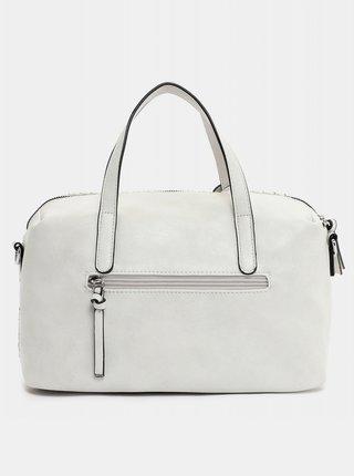 Bílá vzorovaná velká kabelka s ozdobnou třásní Tamaris