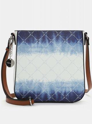 Modro-biela vzorovaná crossbody kabelka Tamaris