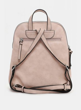 Svetloružový prešívaný batoh s ozdobným strapcom Tamari