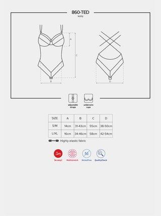 Sexy body 860 - TED white - Obsessive bílá
