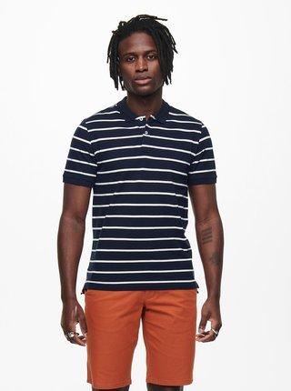 Tmavě modré pruhované polo tričko ONLY & SONS Cooper