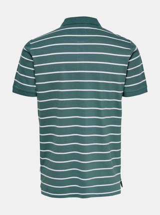 Zelené pruhované polo tričko ONLY & SONS Cooper