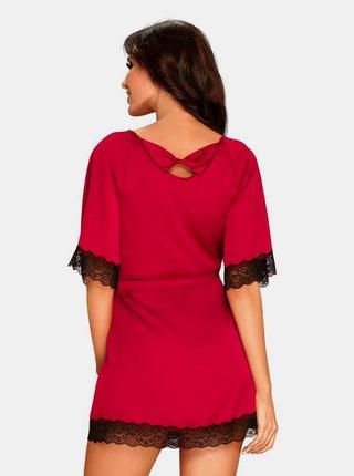 Elegantní župan Sensuelia peignoir red - Obsessive červená