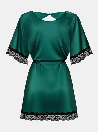 Smyslný župan Sensuelia peignoir green - Obsessive zelená