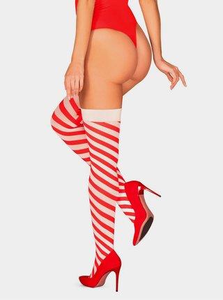 Vánoční punčochy Kissmas stockings - Obsessive červená