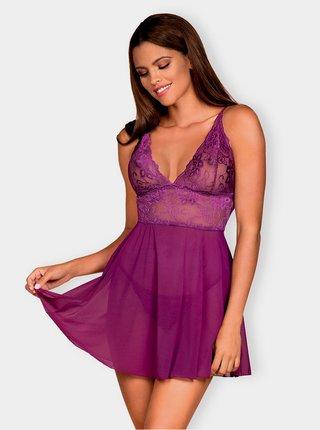Vášnivá košilka Idillia babydoll purple - Obsessive fialová