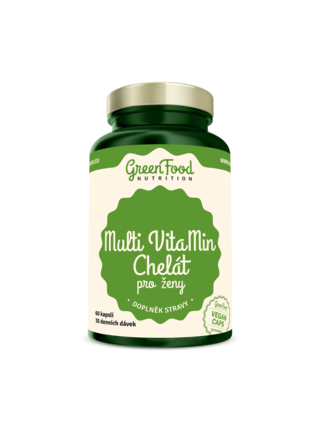 GreenFood Nutrition GreenFood Multi VitaMin Chelát pro ženy 60 kapslí