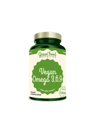 GreenFood Nutrition GreenFood Vegan Omega 3,6,9 60 kapslí