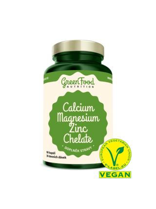 GreenFood Nutrition GreenFood Vápník + Hořčík + Zinek Chelát Vegan 90 kapslí