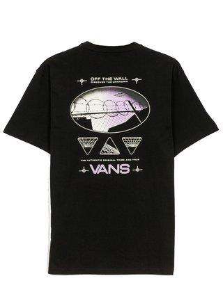 Vans AREA 66 black pánské triko s krátkým rukávem - černá