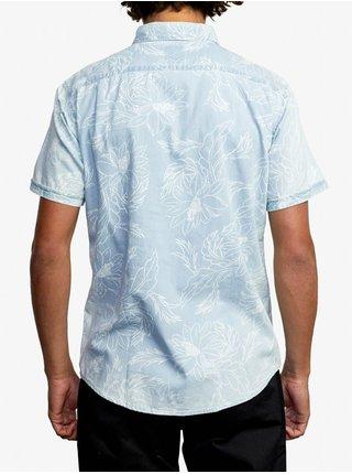 RVCA HASTINGS FLORAL DENIM košile pro muže krátký rukáv - modrá