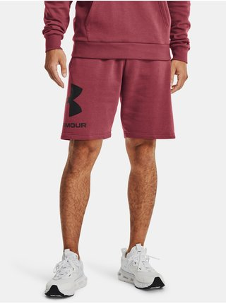 Kraťasy Under Armour Rival FLC Big Logo Shorts - Červená