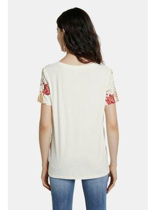Desigual krémové tričko TS Praga