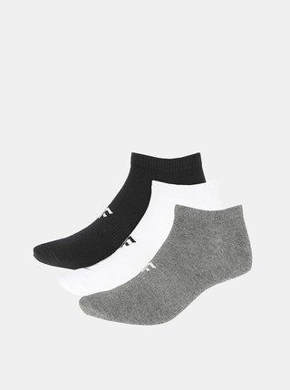 Pánské kotníkové ponožky 4F SOM301 (3 páry) Šedá