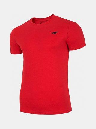 Pánské bavlněné tričko 4F TSM300  Červená