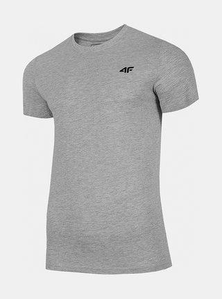 Pánské bavlněné tričko 4F TSM300  Šedá