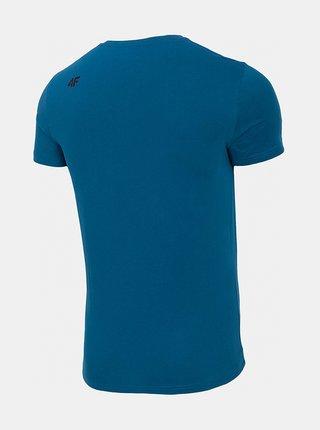 Pánské bavlněné tričko 4F TSM300 Modrá