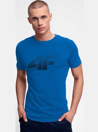 Pánské bavlněné tričko 4F TSM302  Modrá