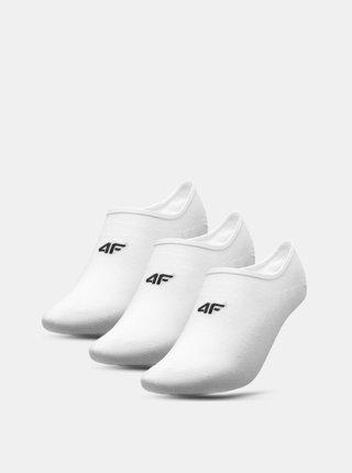 Pánské nízké ponožky 4F SOM300 (3 páry) Bílá