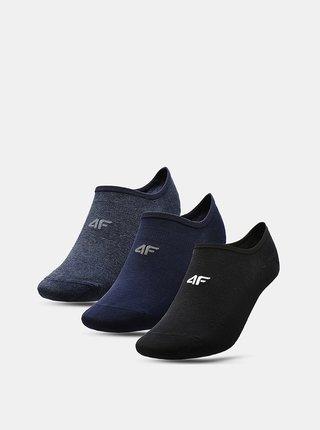 Pánské nízké ponožky 4F SOM300 (3 páry) Modrá
